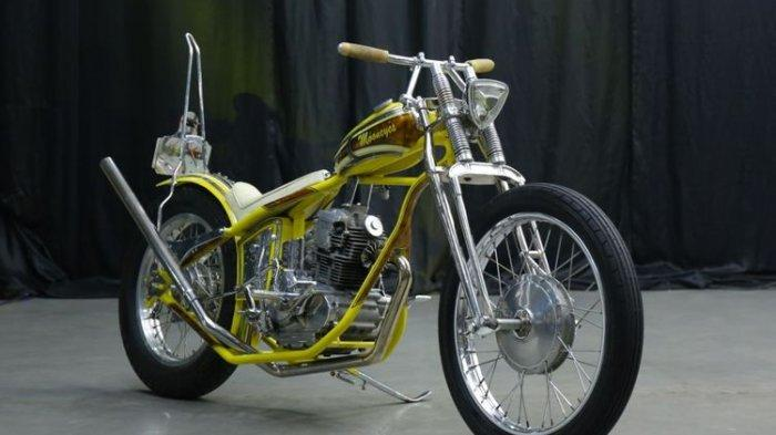 Potret Yamaha Scorpio Chopper Bobber yang Terinspirasi Mooneyes