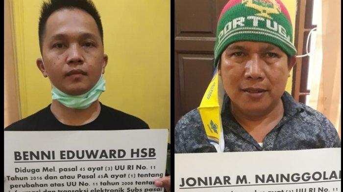 BREAKING NEWS, 2 Youtuber asal Medan Joniar Nainggolan dan Benni Eduward Ditangkap, Dijerat UU ITE