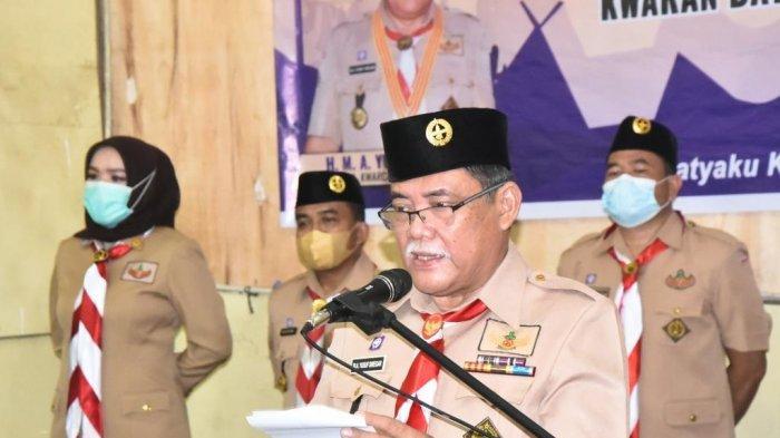 Lantik Pengurus Kwartir Ranting (Kwarran) Sejumlah Kecamatan, Yusuf Siregar Sampaikan Pesan Ini