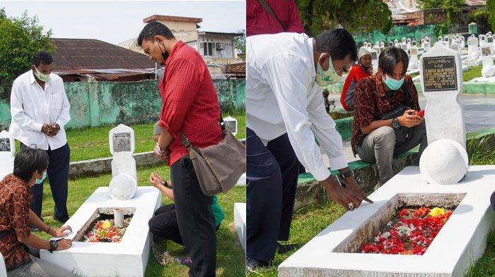 Ultah ke-71, Skuat Ayam Kinantan Ziarahi Makam Tokoh PSMS Medan