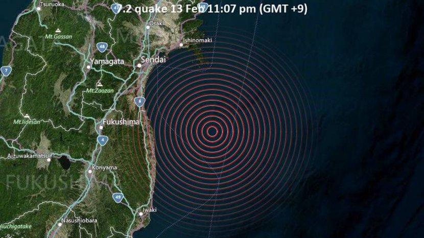 Barusan Gempa Dahsyat 7 2 Guncang Jepang Di Lokasi Tsunami 2011 Getarannya Level Viii X Mmi Tribun Medan