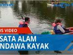 Akhir Libur Lebaran, Masyarakat Habiskan Waktu di Pandawa Kayak