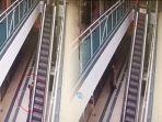 Momen Ibu Selamatkan Anak 4 Tahun Terseret Eskalator, Pengunjung Mal Cuma Bisa Nonton Ketakutan
