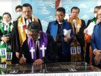 Ephorus HKI Pendeta Firman Sibarani Meresmikan Gereja HKI Pengharapan di Helvetia