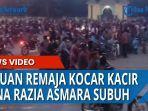 Lagi Asyik Asmara Subuh, Ribuan Remaja Panik saat Polisi Datang, Sebagian Kabur Melarikan Diri