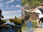 Apesnya Selebgram Ditangkap Polisi Gegara Video Prank Dorong Mobil BMW ke Sungai