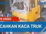 Viral Rombongan Pengantar Jenazah Ngamuk Pecahkan Kaca Truk Kontainer