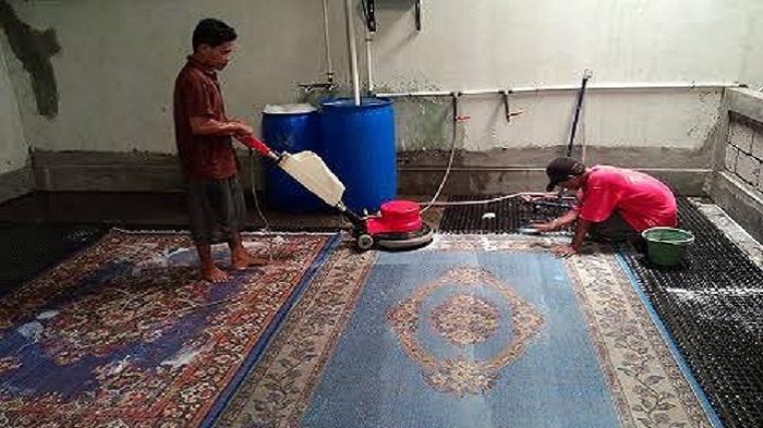 Cuci di Alibaba Laundry Carpet, Karpet Anda Dijamin Higienis