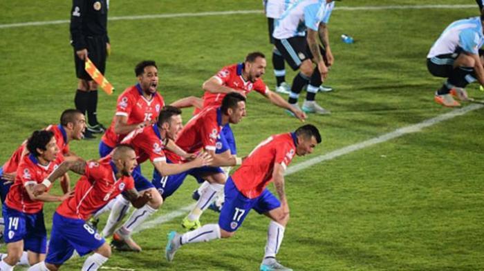 Cile Juara! Taklukkan Argentina 4-1 lewat Adu Penalti