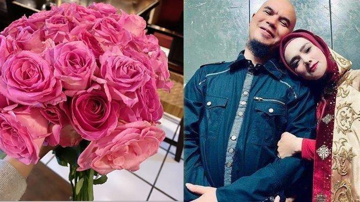 Mulan Jameela Sumringah Ahmad Dhani Pertama Kalinya Beri Bunga, Ini Arti Sebenarnya Mawar Warna Pink