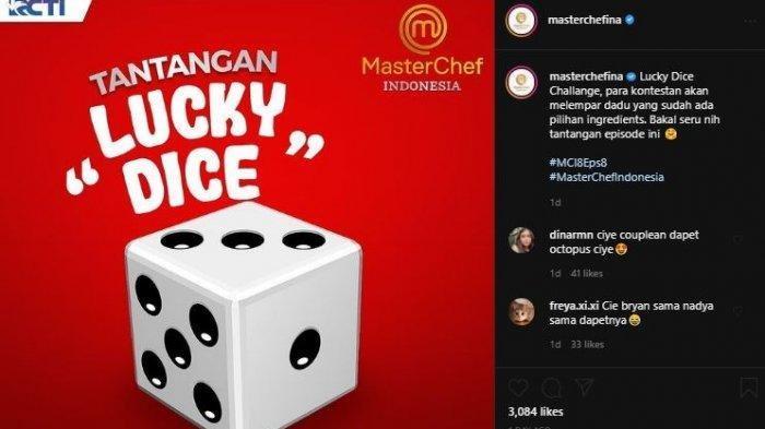 14 peserta MasterChef kini dihadapkan dengan tantangan Lucky Dice.
