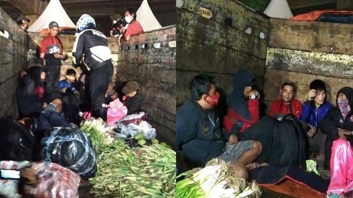 NGOTOT Mudik, 7 Pria Ini Kepergok 'Cosplay' Jadi Sayur, Niat Pulang Kampung Kandas di Tengah Jalan