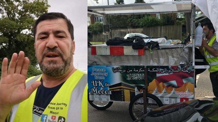 TEGUH Hati, Pria Bule Jalan Kaki dari Inggris ke Mekah Ingin Berhaji, Hanya Bawa Gerobak Seadanya