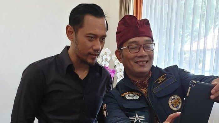 Foto Bareng Ridwan Kamil, Jenggot AHY Terlihat Makin Lebat dan Beruban, Penampilannya Jadi Sorotan