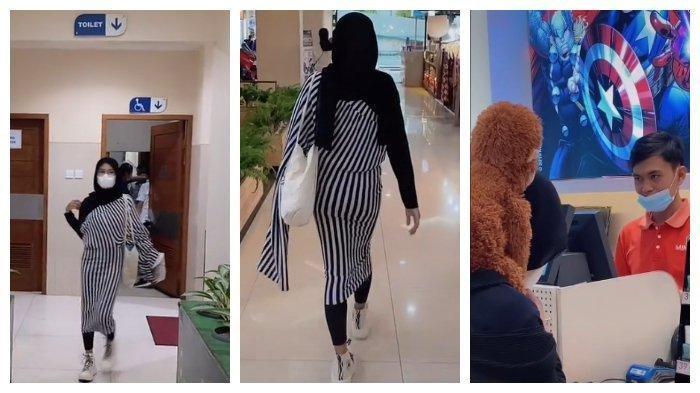 DITONTON 12 Juta Kali, Wanita Ini Viral Pakai Kulot Jadi Baju saat ke Mall, Reaksi Mas Kasir Disorot