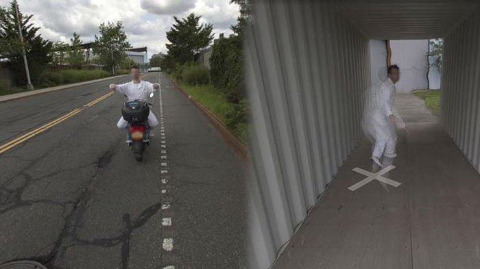VIRAL Pengguna Google Maps Kaget, Temukan Aksi Akrobat Pria Naik Motor dan Tersungkur, Ini Sosoknya