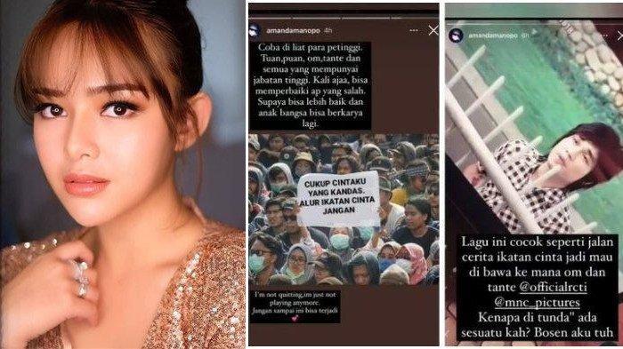 Amanda Manopo protes bosan dengan alur cerita Ikatan Cinta