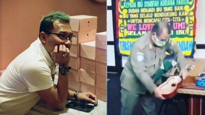 VIRAL Satpol PP Hancurkan Gitar Pengamen, Anang Geram, Mention Jokowi Hingga Prabowo: Kok Bisa?