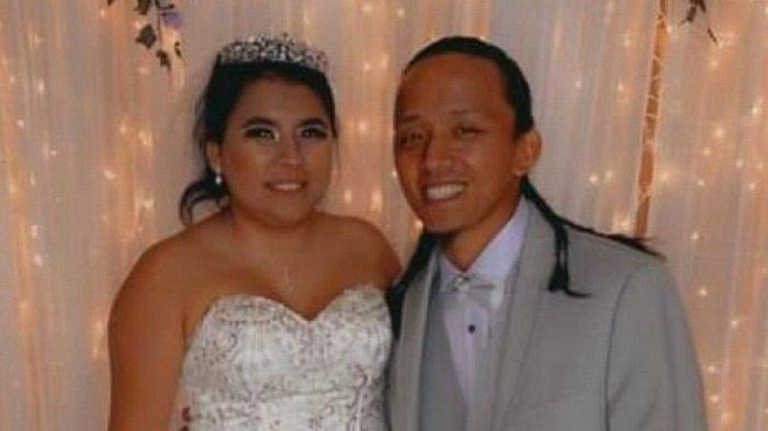 Angelica Dhondup bersama sang suami