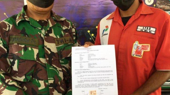 Meski Berujung Damai, TNI yang Tampar Petugas SPBU Tetap Diproses, Dandim: 'Harus Jalani Hukuman'
