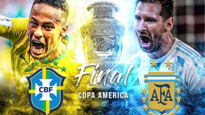 PREDIKSI Pertandingan Argentina vs Brasil Final Copa America 2021, Superclasico Neymar vs Messi