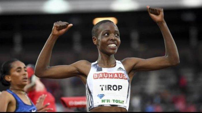 Atlet Agnes Tirop semasa hidup