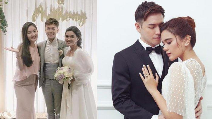 Natasha Wilona hadir di pesta pernikahan Audi Marissa dan Anthony Xie.