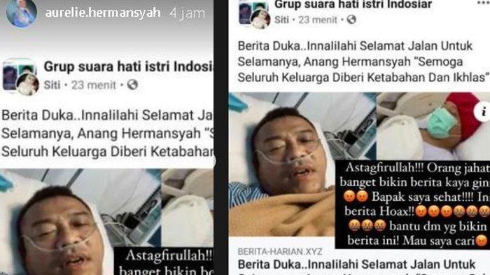 Aurel marah Anang Hermansyah jadi korban hoax dan dibakarkan meninggal dunia