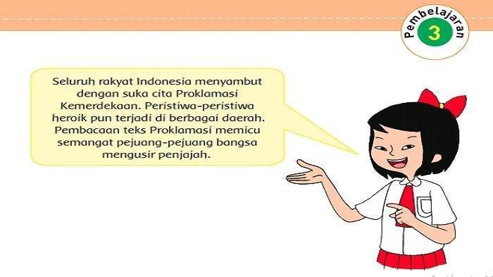 KUNCI JAWABAN Tema 7 Kelas 5 Bagaimanakah Reaksi Rakyat Indonesia Menyambut Proklamasi Kemerdekaan?