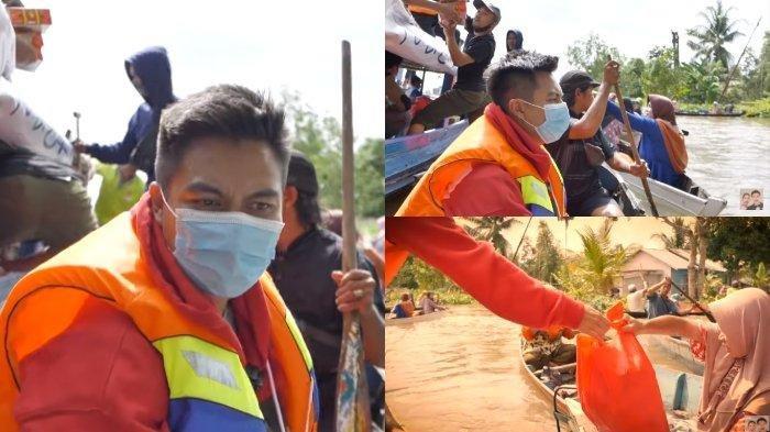 PERAHU Hampir Terbalik hingga HP Tercebur, Momen Perjuangan Baim Wong Bantu Korban Banjir Kalsel