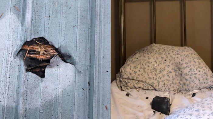 Batu meteor yang jatuh ke rumah seorang wanita