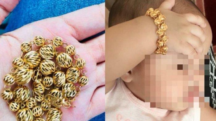 DEMI Bergaya Ibu Kenakan Emas ke Tangan Bayinya, 3 Bulan Kemudian Gelang Dibuka Langsung Menyesal