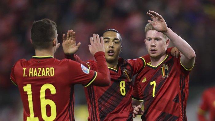 HASIL PERTANDINGAN Denmark vs Belgia Euro 2020, Tim Asuhan Roberto Martinez Menang Comeback 1-2