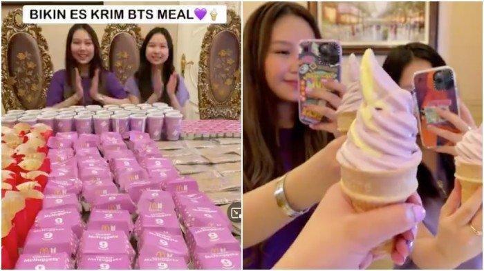 Sisca Kohl Borong BTS Meal Hanya untuk Konten Unik, Semua Makanan Dicampur Jadi Es Krim