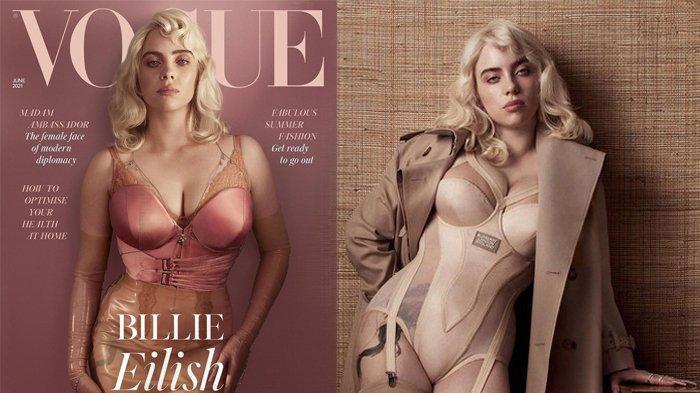 Beda 180 Derajat, Deretan Potret Billie Eilish Tampil Seksi di Majalah Vogue, Miliki Pesan Mendalam