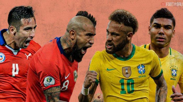 PREDIKSI Pertandingan Brazil vs Chile Copa America 2021 Perempat Final, Neymar Siap Lawan Vidal Cs