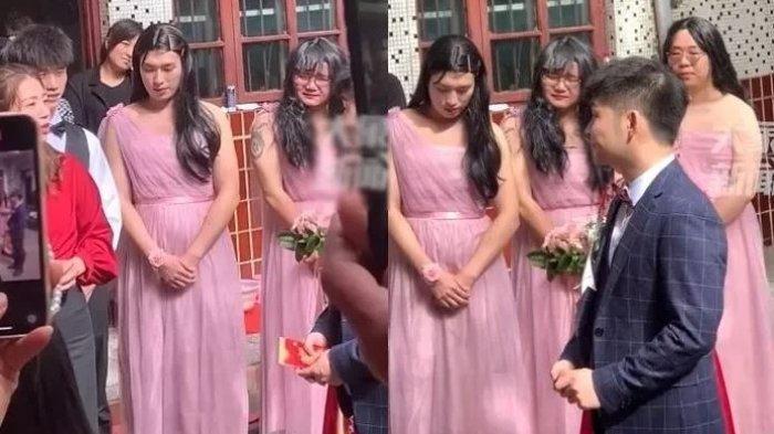 Bridesmaid pengantin jadi sorotan.