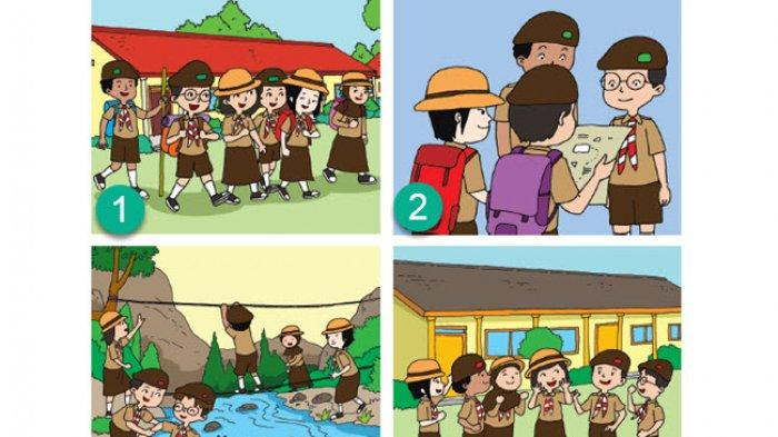 KUNCI JAWABAN Tema 8 Kelas 3 SD Subtema 4, Tuliskan Karangan 4 Paragraf Tentang Hari Minggu Udin