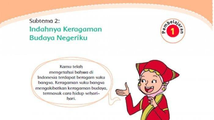 KUNCI JAWABAN Tema 7 Kelas 4 SD Halaman 112 115 116, Memahami Keragaman dalam Masyarakat Indonesia