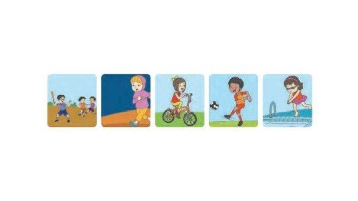 KUNCI JAWABAN Tematik Tema 2 Kelas 1 SD Subtema 1 Pembelajaran 5, Halaman 38-44: Olahraga Kegemaran