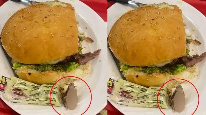 Burger yang ada jari manusia