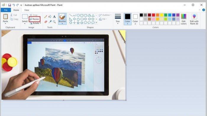 Cara mengubah ukuran gambar/resize di Microsoft Paint