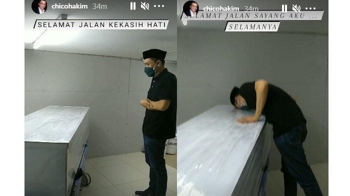 Chico Hakim menyalatkan jenazah sang istri, Citra Soeroso