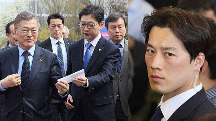 Choi Young Jae saat menjadi bodyguard Moon Jae In