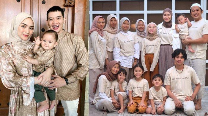 Potret Kompak Para Artis saat Idul Fitri, Pakai Seragam, Baju Lebaran Zaskia Adya Mecca Unik Banget!