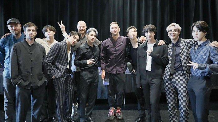 BTS & Coldplay Pecahkan Rekor, Single My Universe Puncaki Billboard Hot 100, 11,5 Juta Kali Diputar