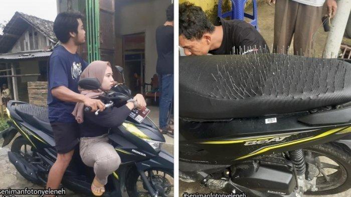 DICURIGAI Pacar Boncengkan Wanita Lain, Pria Ini Akhirnya Pasang Paku di Jok Motor: Aku Cowok Setia!