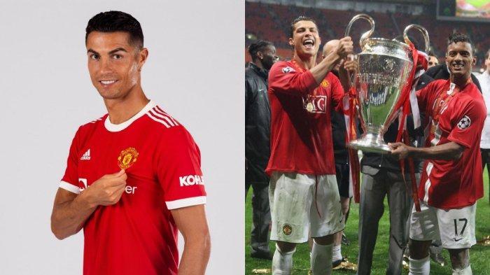 Cristiano Ronaldo bersama Manchester United.