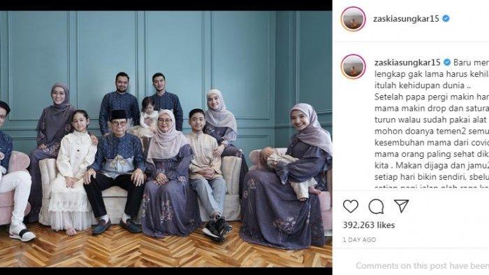 Curhat Zaskia Sungkar pilu beber kondisi terkini ibu Irwansyah.