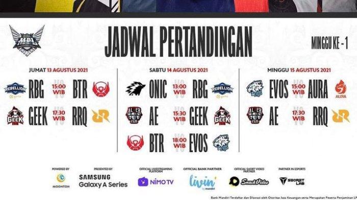 JADWAL Live Streaming MPL ID Season 8 Lengkap, Ada Banyak Bigmatch EVOS, RRQ, BTR, Geek hingga RBG